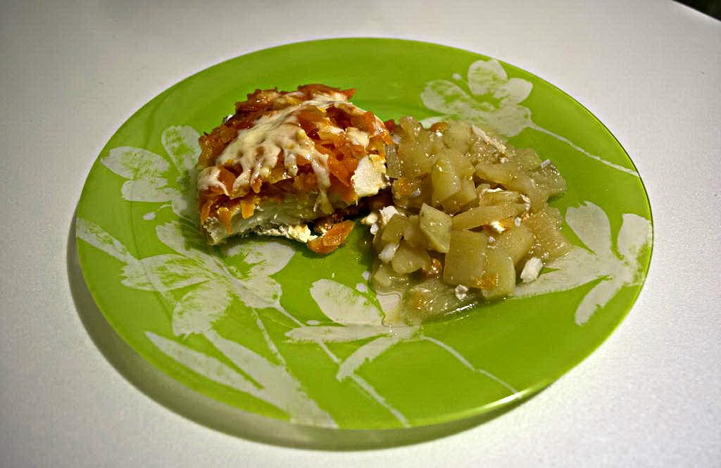 Филе ТРЕСКИ с овощами под сыром на картошке. Всё дело в соусе!