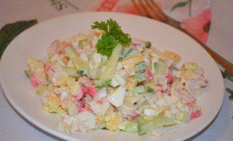 """Самый вкусный салат с крабовыми палочками """"Нежный"""""""