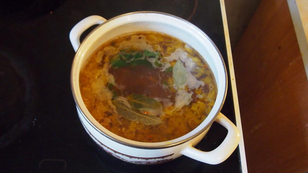 Добавляем всё в суп