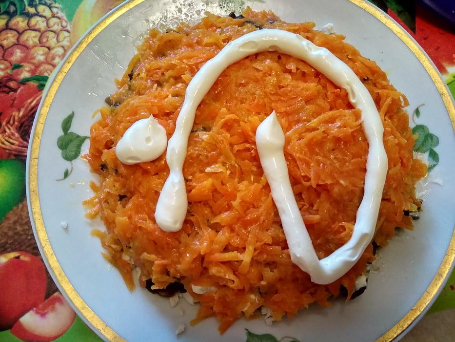 4ый слой морковь
