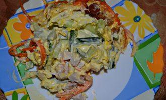"""Салат """"Фавор"""" — готовлю, когда хочу удивить гостей"""