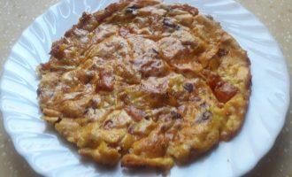 Омлет с томатами и домашним кремом по-французски