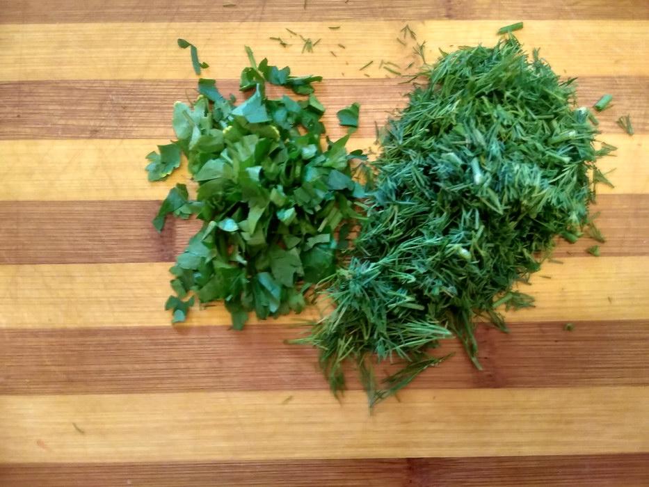Нарежем зелень
