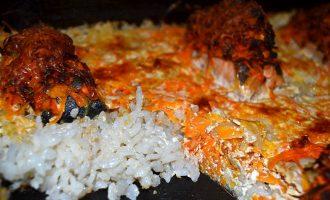 Горбуша на рисовой подушке