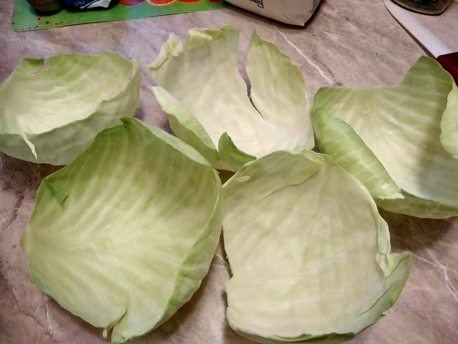 Отделим капустный лист