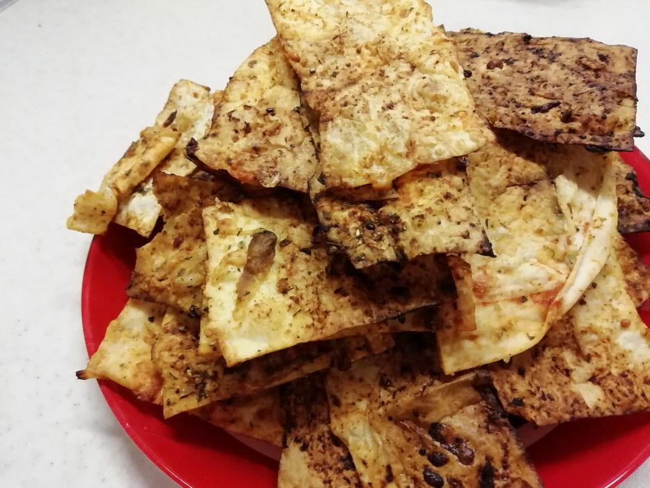 Домашние чипсы из армянского лаваша в духовке