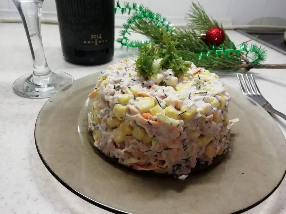 Салат на праздничный стол «Мгновение»