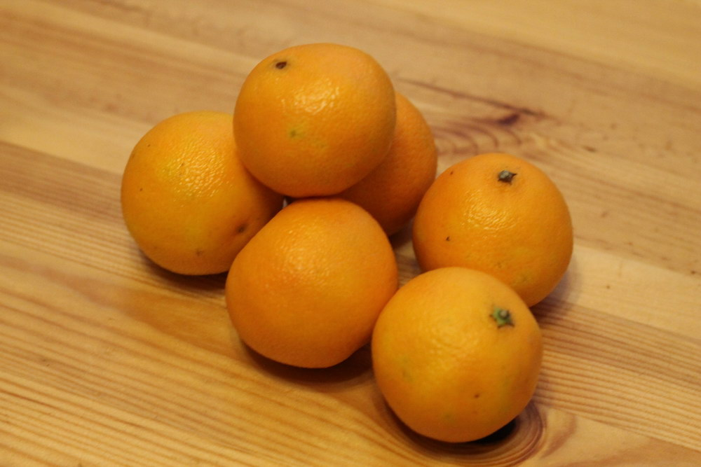 Почистить мандарины