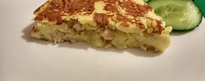 Моментальный картофельный пирог с курицей