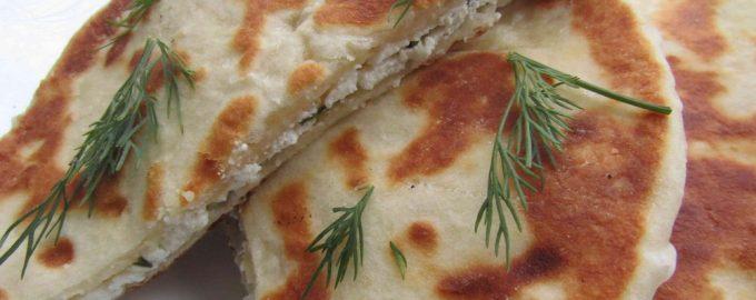 Лепёшки по-имеретински (тесто на кефире)