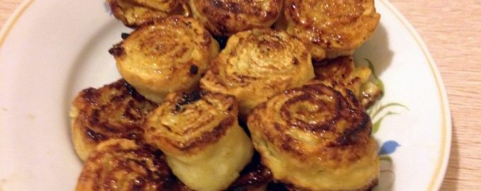 Печенье «Улитка» на сковороде, всего 3 ингредиента