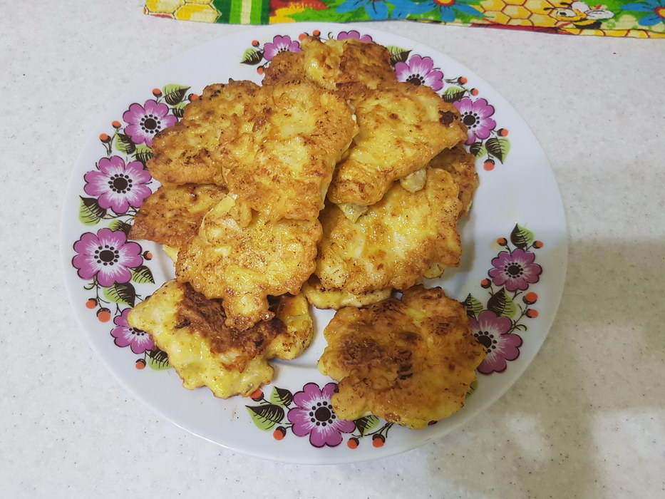 Рецепт нежных оладушек из куриного филе