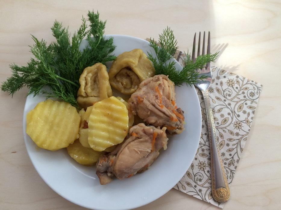 Штрули с курицей и картофелем - оригинальное блюдо из Германии