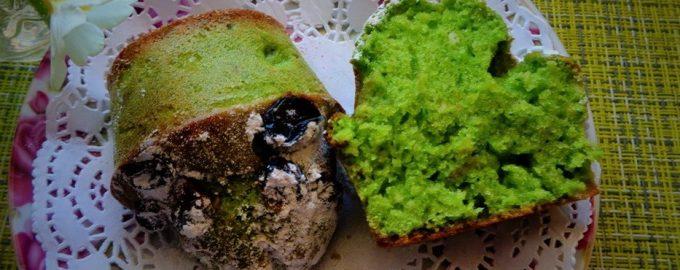 Рецепт сладкого кекса со шпинатом и изюмом