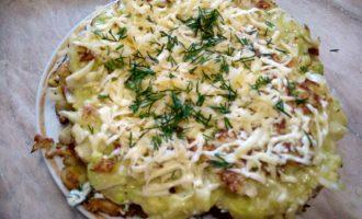 овощной пирог из кабачка и капусты