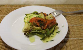 Тёплый салат «С дымком»