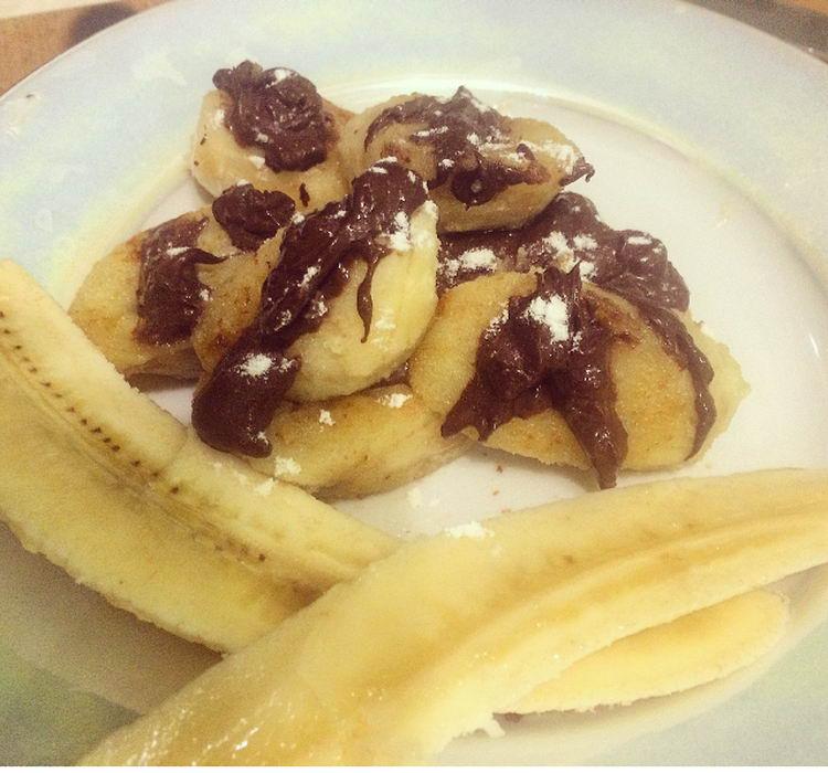 Жареные бананы в шоколаде
