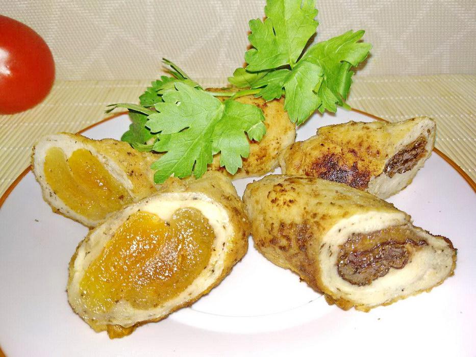 Куриные рулеты с курагой и черносливом – люблю их готовить к праздничному столу