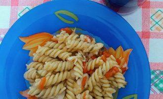 Макароны с рыбой (так готовят в Италии)
