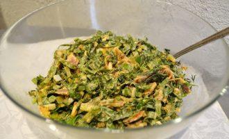 Давно любимый - салат со щавелем и беконом