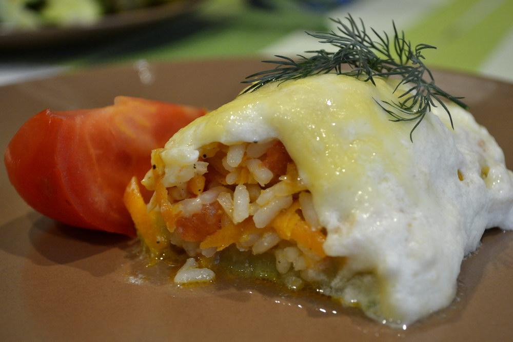 Кабачки, фаршированные рисом