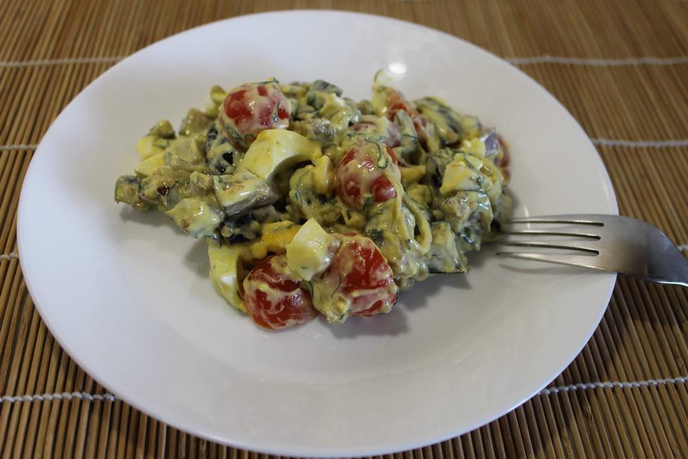 Салат из баклажанов и яиц — яркое сочетание вкусов