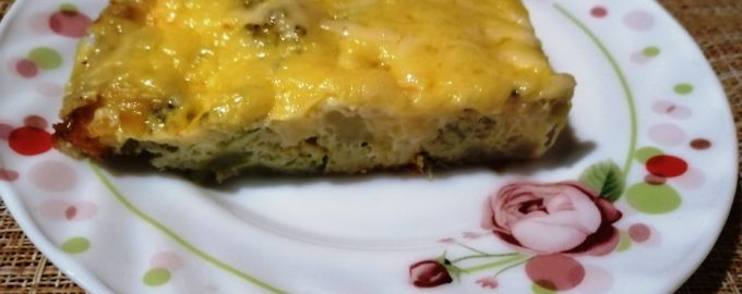Очень сырная запеканка с брокколи