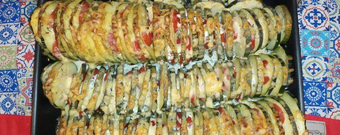 Рецепт «Кабачки Зебра» - все ингредиенты дачные, готовить минут 15 и подать на праздничный стол не стыдно