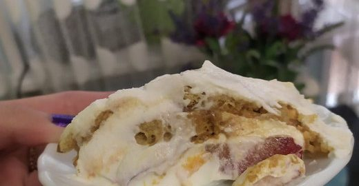 Мятный освежающий торт (всего 3 ингредиента и никакой выпечки)