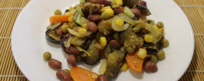 Яркий аппетитный салат «Мексиканец» летняя сказка, не меньше!