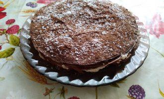 Блинный торт с бананово-творожной начинкой