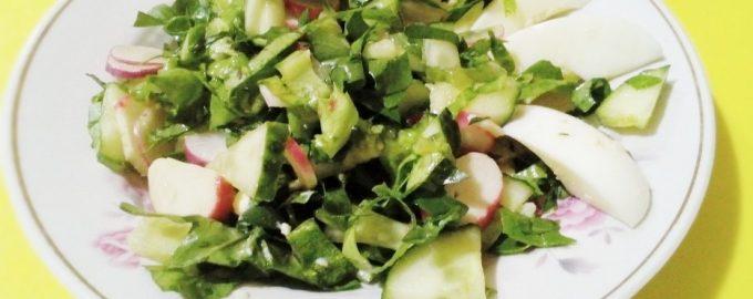 Новый салат с крабовыми палочками, не «попса», а витаминный