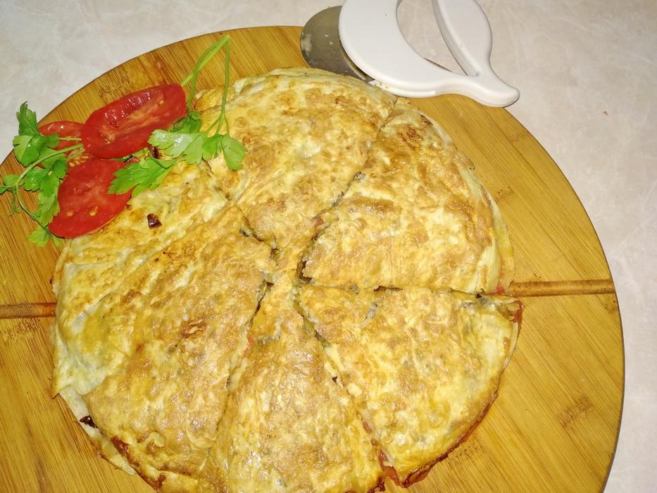 Внукам приготовила пирог-перевёртыш на сковороде, и пицца ушла на второй план. (начинка из баклажан, как с грибами)