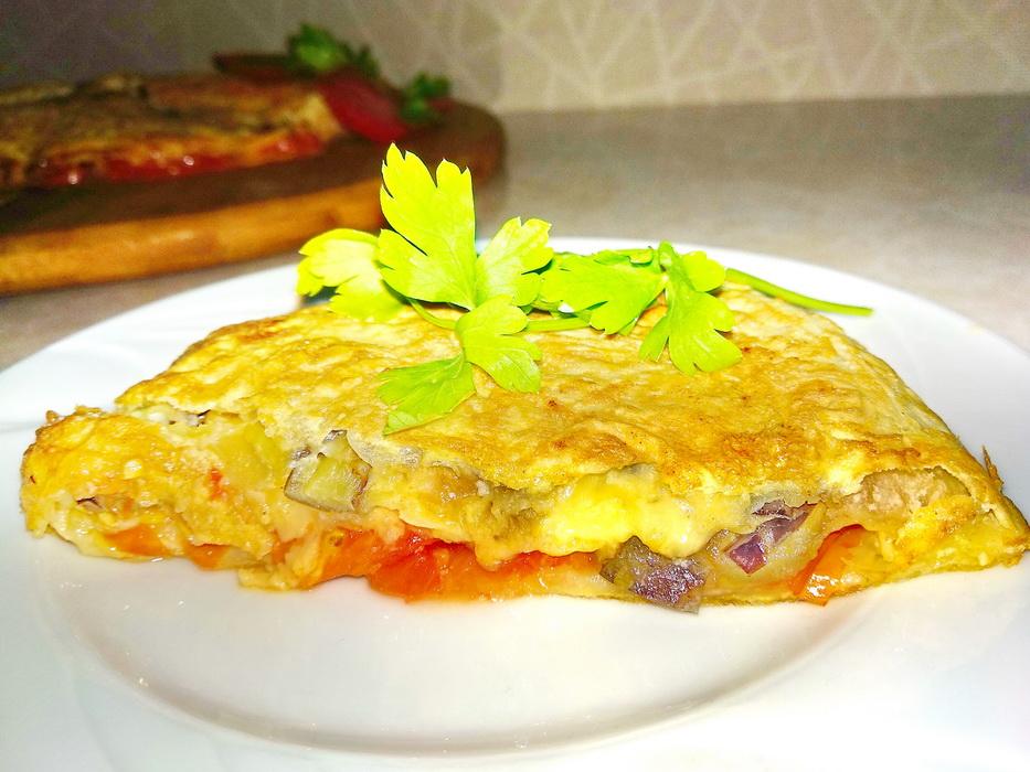 Пирог из лаваша на сковороде