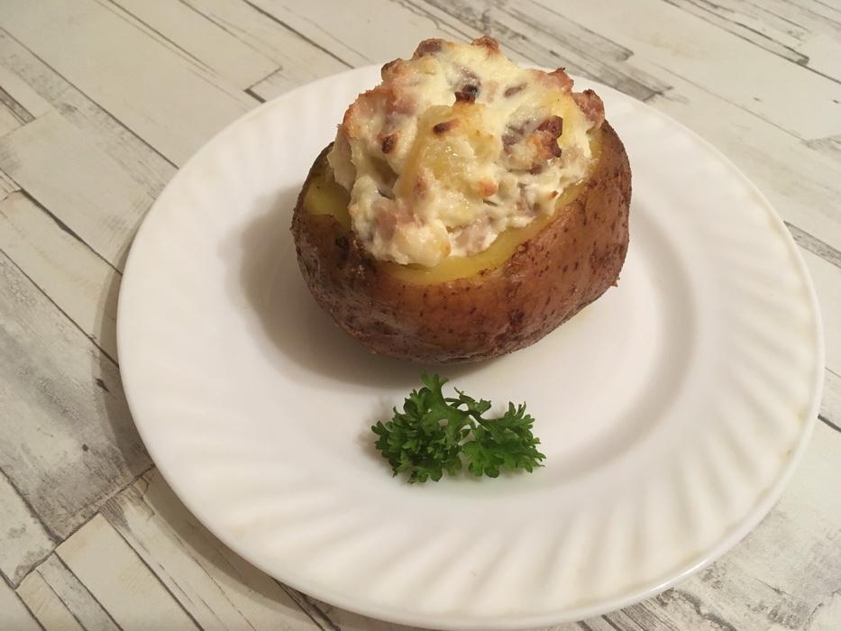 Фаршированный картофель по-новому. Съедается со стола в два счета