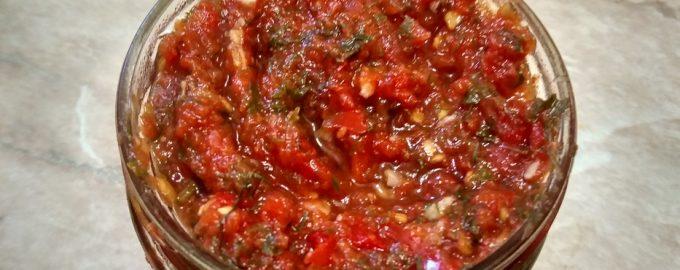 Любимый соус Сацебели, как в Грузии (готовлю на зиму вместо аджики – получается ещё вкуснее к мясу)