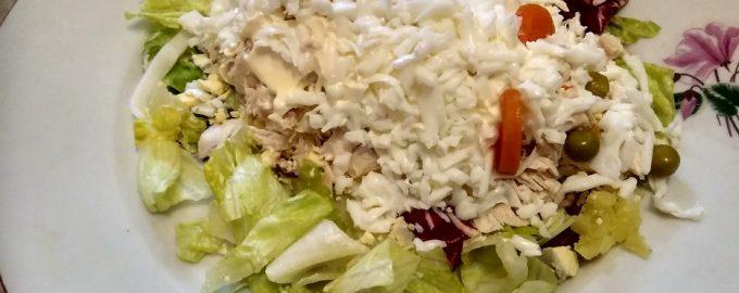 Салат «Белая крыса»