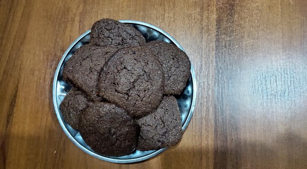 Шоколадное печенье с перцем чили. Внук просто обожает