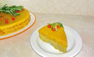 Печёночный торт в апельсиновой заливке
