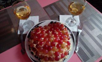 «Французский шик» салат с сыром и виноградом. Специально к ужину с любимым