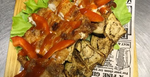 Куриное филе «Чили» с баклажаном и перцем. Рецепт экзотика, привезла из Турции