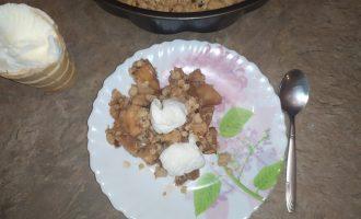 Мой семейный «Яблочный пирог с мороженым». Пеку его, когда собирается вся семья, ещё ниразу не подводил