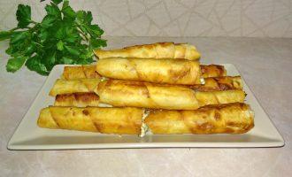 Быстрые пирожки «Сигары» из лаваша и начинки
