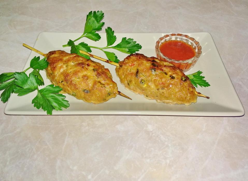 Люля кебаб с овощами