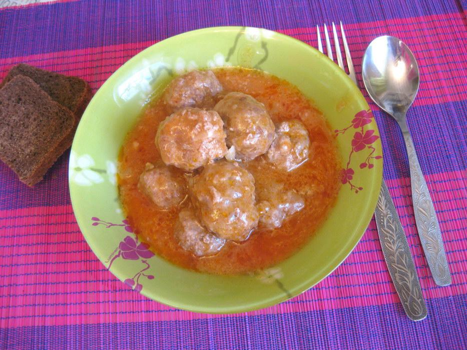Мини-тефтели в томатной подливе готовы