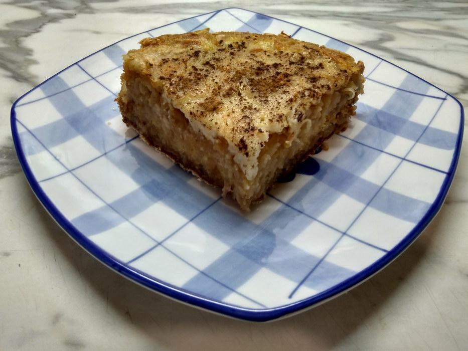 Насыпной яблочный пирог «3 стакана»