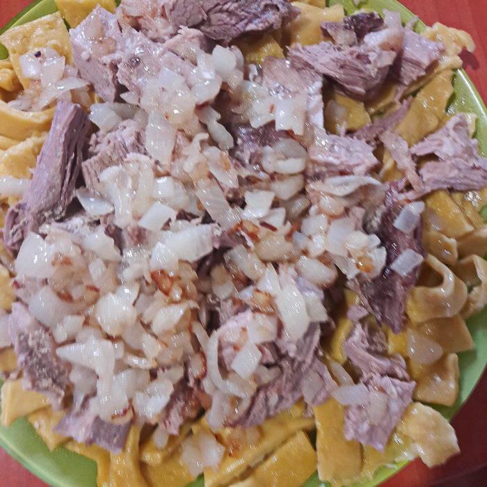 Бешбармак из говядины. Рецепт от Крымских татар