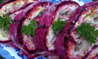 Рулет из лаваша «Селёдка под шубой» самый новый рецепт к празднику